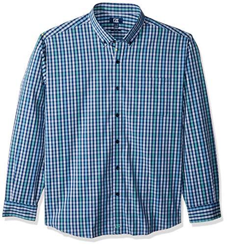 Cutter & Buck MCW00174 Camisa a Cuadros Doble con Ancla para Hombre - Multicolor - Small