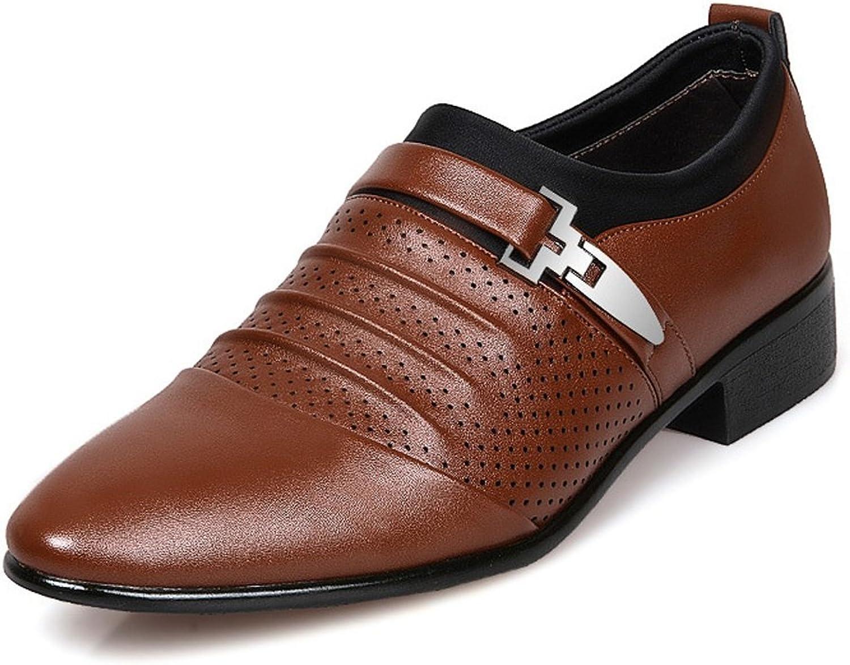 SRY-Schuhe Einfache Männer Business Schuhe Glatt Pu-Leder Splice Oberen Slip-on Slip-on Slip-on Atmungsaktive Mesh Oxfords (Farbe   Braun, Größe   CN29)  f04123