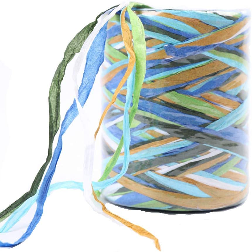 Colored Raffia Ribbon, 262 Feet Paper Raffia Ribbon Twine for Gift Wrapping, Party Decor and Craft Projects (C)