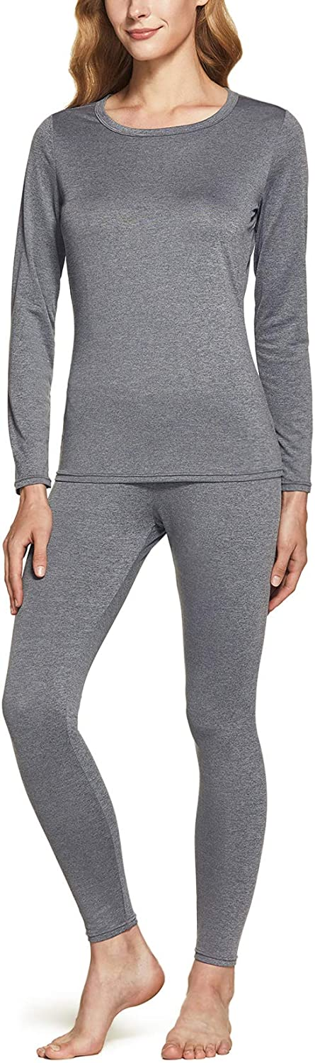 ATHLIO Women's Winter Thermal Underwear Long Johns Set, Warm Base Layer, Top & Bottom for Cold Weather