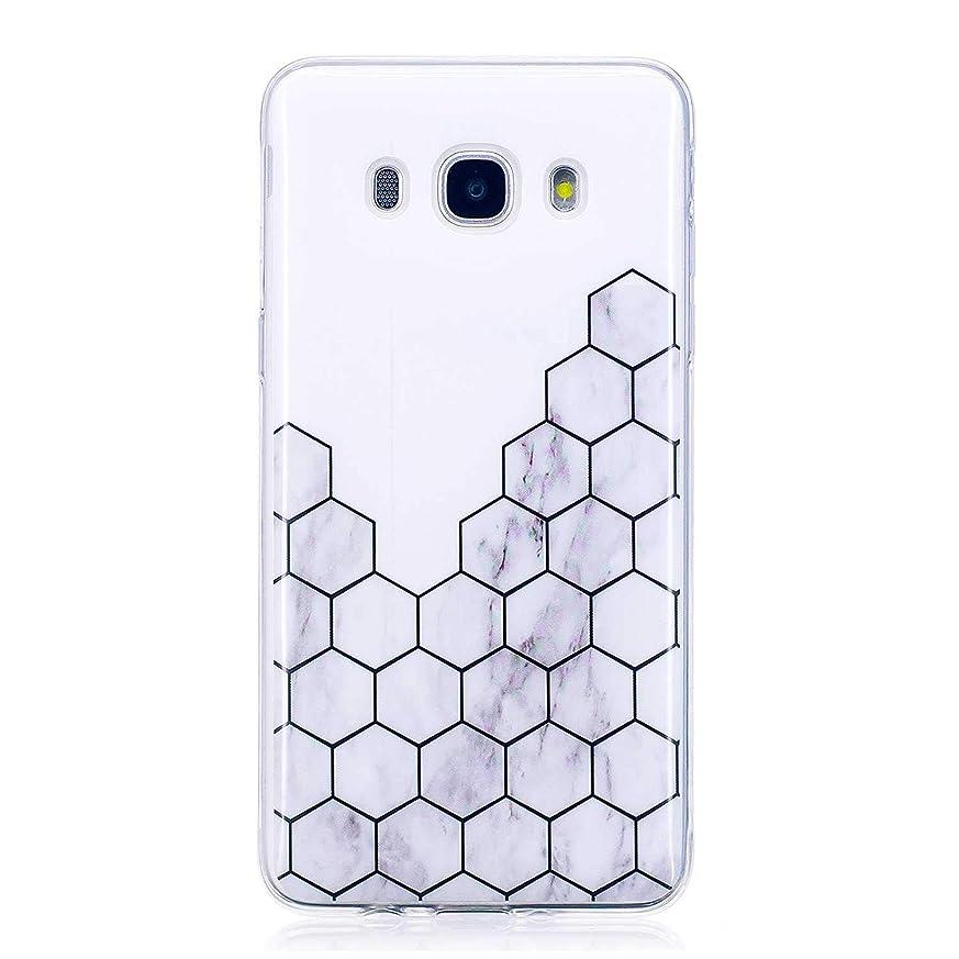 メンダシティ貫通するコンチネンタルGalaxy J5 2016 ソフト ケース, CUNUS Samsung Galaxy J5 2016 ケース TPU シリコン スリム 薄型 耐摩擦 耐衝撃 スマホケース, 新品 高級 ケース, 模様3