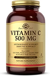 Solgar Vitamin C 500 mg, 250 Vegetable Capsules - Antioxidant & Immune Support - Overall Health - Supports Healthy Skin & ...