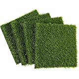 Artificial Grass Patch Synthetic Grass (12 x 0.25 x 12 in 4-Pack)