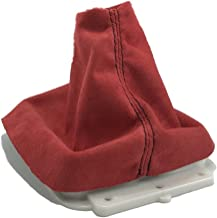 For 07-14 Mitsubishi Evolution X Evo X 5 Speed Shift Boot Red Suede Black Stitch