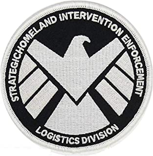 Marvels Agents of S.H.I.E.L.D GLOW IN THE DARK Embroidery Patch Shirts Hats Jackets Bags Halloween Costume Easy Iron On