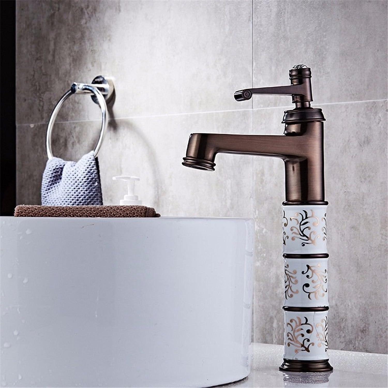 IJIAHOMIE Style of Bathroom Sink Taps, Bathroom Faucets,Waterfall Basin Sink Mixer Tap Modern Copper Bathroom