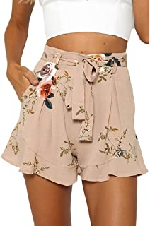 Damenhose Sommer Shorts Kurze Hosen Camouflage Hotpants Freizeit Hoch Taille 40