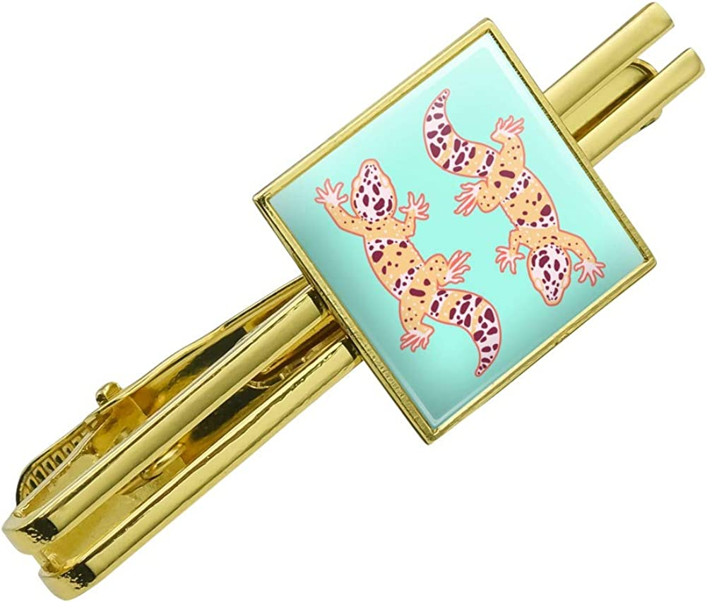 Nippon regular agency GRAPHICS MORE Leopard Gecko Square Tie Si Excellence Clasp Clip Tack- Bar