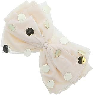 Beautiful Silky Knot Bow With Shiny Circles Baby Headband