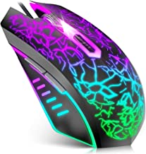 VersionTECH. Gaming Mouse Wired, Ergonomic USB Mouse Mice with RGB Backlit, 1200 to 3600 DPI for Laptop PC Computer Chrome...