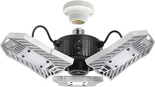 CREATE BRIGHT 60W Motion Activated Ceiling Light for Garage, Warehouse,Workshop,Basement and Others, High Power LED Light Bulb E26 Medium Base 6000 Lumen,6000K Daylight