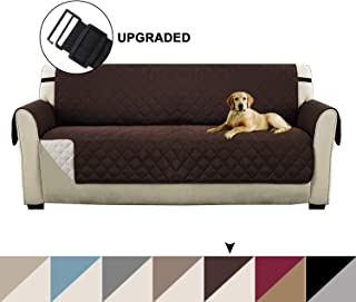 Turquoize Pet Friendly Plush Reversible Furniture Sofa Protector with 2