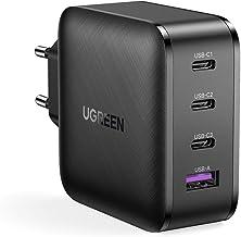 UGREEN USB C Chargeur Rapide 65W 4 Ports USB avec GaN Tech Compatible avec MacBook Pro iPad Pro iPhone 12 Mini Pro Max et Tous Les USB C PC Portable Tablette Smartphone