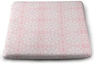 Dadi-Design Canadian Maple Leaf Mandala in Bubblegum Seat Cushion Memory Foam Square Chair Pad Cover 13.7 x 15 x 1.2 inches