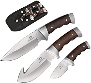 Mossy Oak Fixed Blade Hunting Knife Set - 3 Piece, Full...