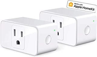 Apple HomeKit Smart Plug WiFi Outlet Work with Alexa, Google Home, Siri, Refoss Smart Socket with Timer Function, Remote Control, No Hub Required, 16A, 2 Pack