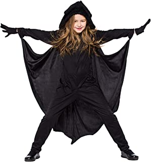 Halloween Vampire Bat Costume for Girls Boys Animal Stage Performance Cute Jumpsuits with Gloves Black