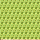 ABAKUHAUS Grün Stoff als Meterware, Japanische