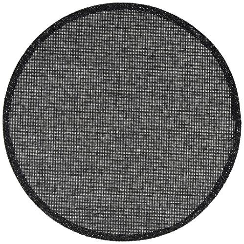 Calitex SOU2736X71A Ball 6 Set de Tables Bambou Noir 38 x 38 cm