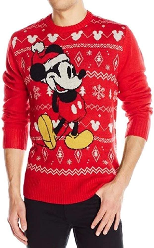 Mouse Ugly Sweater Sweatshirt Mens LT Red
