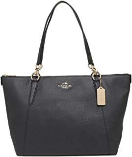 Coach F57526 IMMID Ava Crossgrain Leather Zip Tote Shoulder Bag - Midnight Blue
