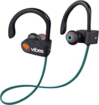 Vibes Air Wireless Headphones - Bluetooth 4.1 Lightweight Stereo Noise-cancelling Earbuds, Concert Bass, IPX4 Sweatproof Sports Headset with Mic (Blue)