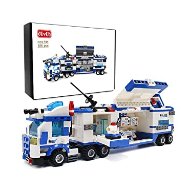 dOvOb City Police Mobile Command Center Truck Building Blocks Car(825 PCS) Model Toys Gifts for Kid and Adult