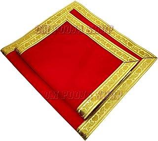 Om Pooja Shop Pooja Aasan (Red)