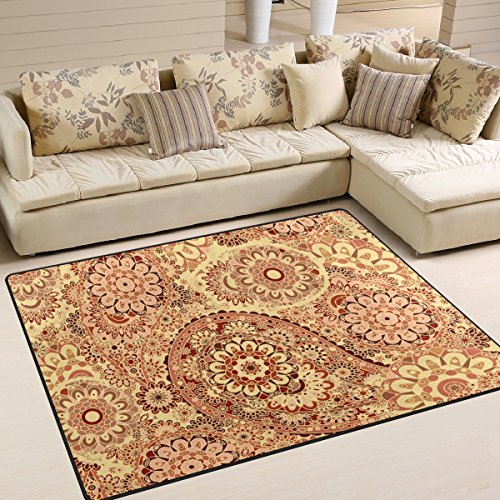 Uhoney Tapis Carpette de Salon 160cm x 120cm (63\