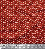 Soimoi Rot Baumwolle Ente Stoff Papierschiffchen