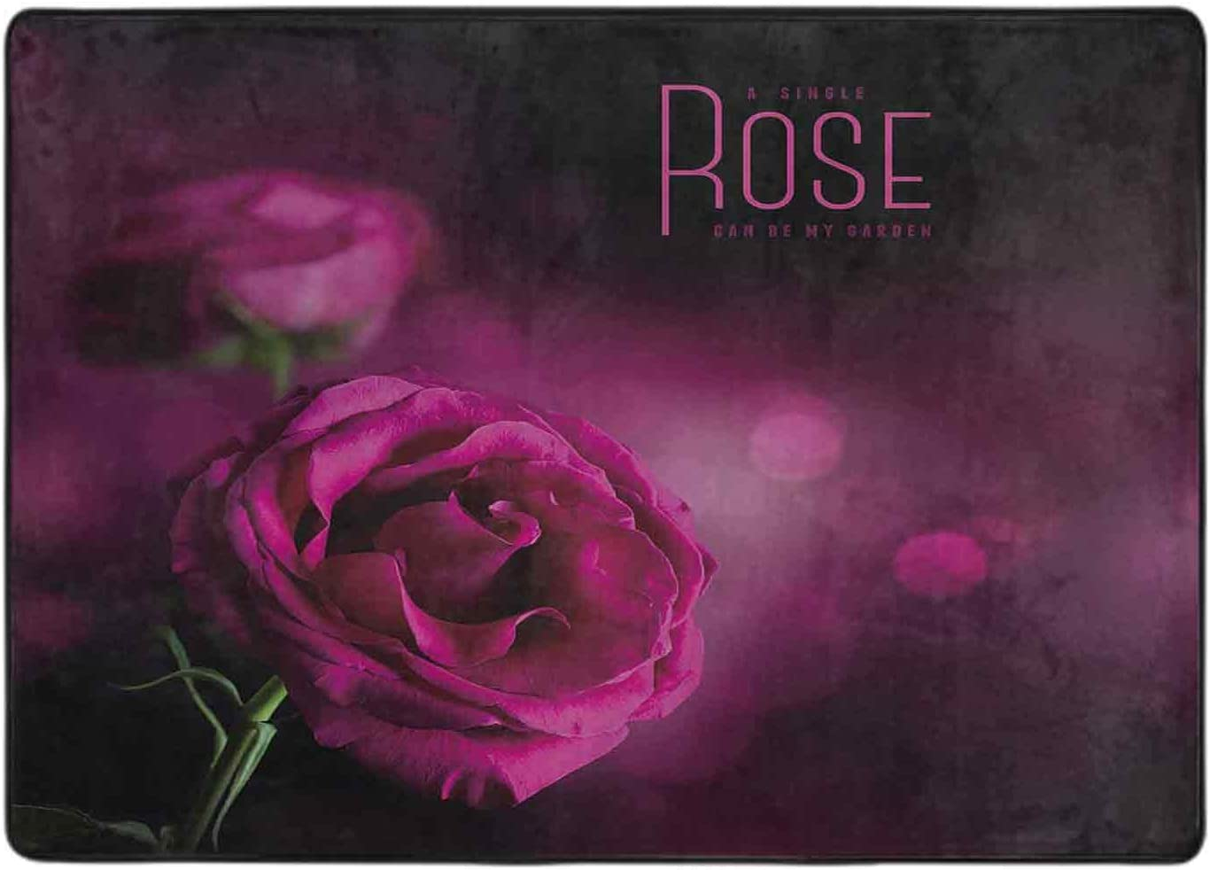 Carpets for Living Room Pink Rose Dark Background Against Soft New products world's highest quality popular a 5% OFF