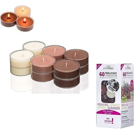 Smart-Planet/® Lot de 8 bougies Ambiente Noir 12 cm