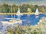 1art1 85404 Claude Monet - Das Seinebecken Bei Argenteuil, 1874, 2-Teilig Fototapete Poster-Tapete 240 x 180 cm
