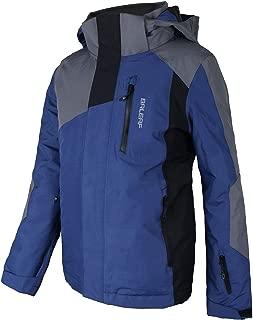 BALEAF Big Boy's Ski Jacket 5K/5K Waterproof Breathable Kids Fleece Lined Windproof Hooded Snowboard Coat