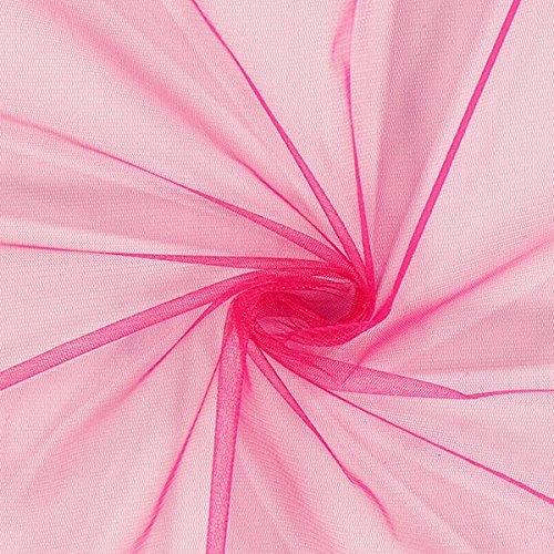 Fabulous Fabrics Tüll pink, Uni, 150cm breit – zum Nähen von Brautschleiern, Petticoats und Röcken - Meterware erhältlich ab 0,5 m