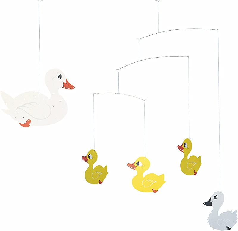 Flensted Mobiles Ugly Duckling Hanging Nursery Mobile 17 Inches Cardboard