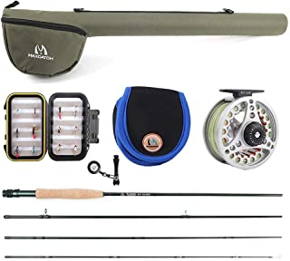 M MAXIMUMCATCH Maxcatch Extreme Fly Fishing Combo Kit 3/5/6/8 Weight, Starter Fly Rod and Reel Outfit, with a Protective Travel Case