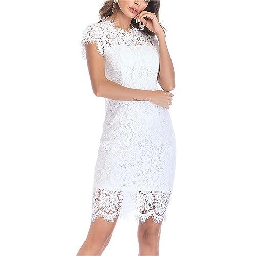 1b591c544d0 Women s Sleeveless Floral Lace Slim Evening Cocktail Mini Dress for Party  DM261