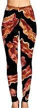 LONGTOU Women's Yoga Pants Bacon Elastic Workout Running Leggings Pants