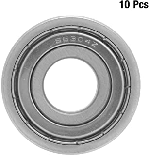 6304-ZZ Sealing Bearing 10Pcs 20x52x15mm Deep Groove Ball Bearings, Simple Structure with Stable Performance, Easy to Use