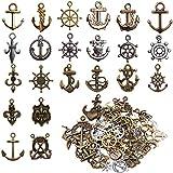 JJYHEHOT Vintage Bronze Anhänger, Anker Anhänger, Schmuck Halskette Armband Anhänger Diy Zubehör