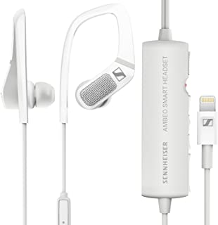 Sennheiser Ambeo 3D Video Sound Recording Earphones with Active Noise Cancellation Smart Headset (White)