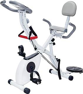 [3年保証] SUNEM フィットネスバイク 家庭用 エアロビクスバイク 8段階負荷 超静音設計 健康器具 ダイエット器具 有酸素運動 室内運動
