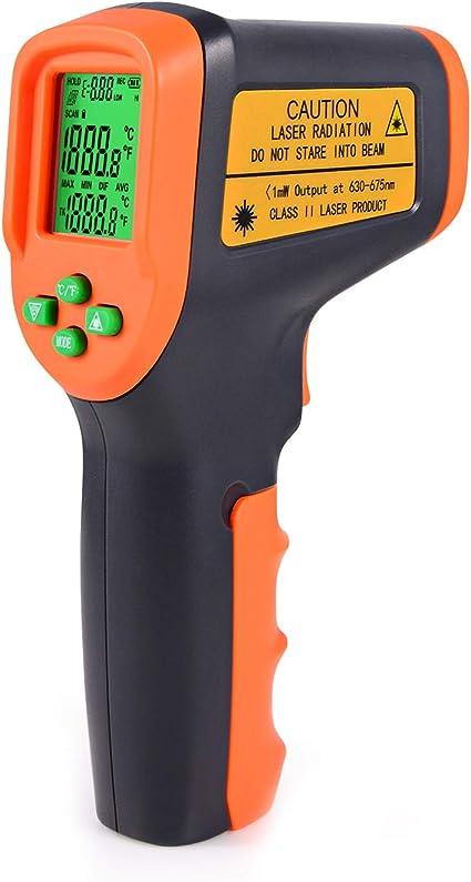 Winjun Berührungslos Digital Infrarot Thermometer 50 650 Pyrometer Temperaturmessgerät Temperaturmesser Lcd Bildschirm Mit Schutzhülle Für Industrie Küsche Lebensmittel Autoreparatur Auto