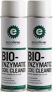 Ecoline - バイオ酵素コイルクリーナー エアコンとヒーターコイルフィンから汚れ、糸くずやグリースを除去 (2個パック)