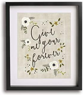 Forever by Ben Harper inspired lyric art print
