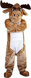 Langteng stark muskel ko buller tecknad maskot kostym äkta bild 15-20 dagar leverans märke
