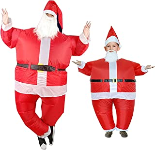 Luxury Santa Claus Inflatable Costume Funny Festive Day Dressing Suit Merry Christmas
