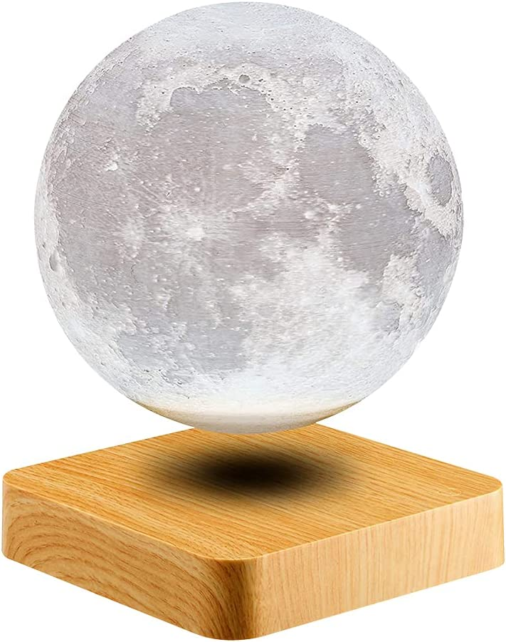 Romantic List price 360° Rotating Magnetic Levitation Floating Sp Moon Lamp New arrival