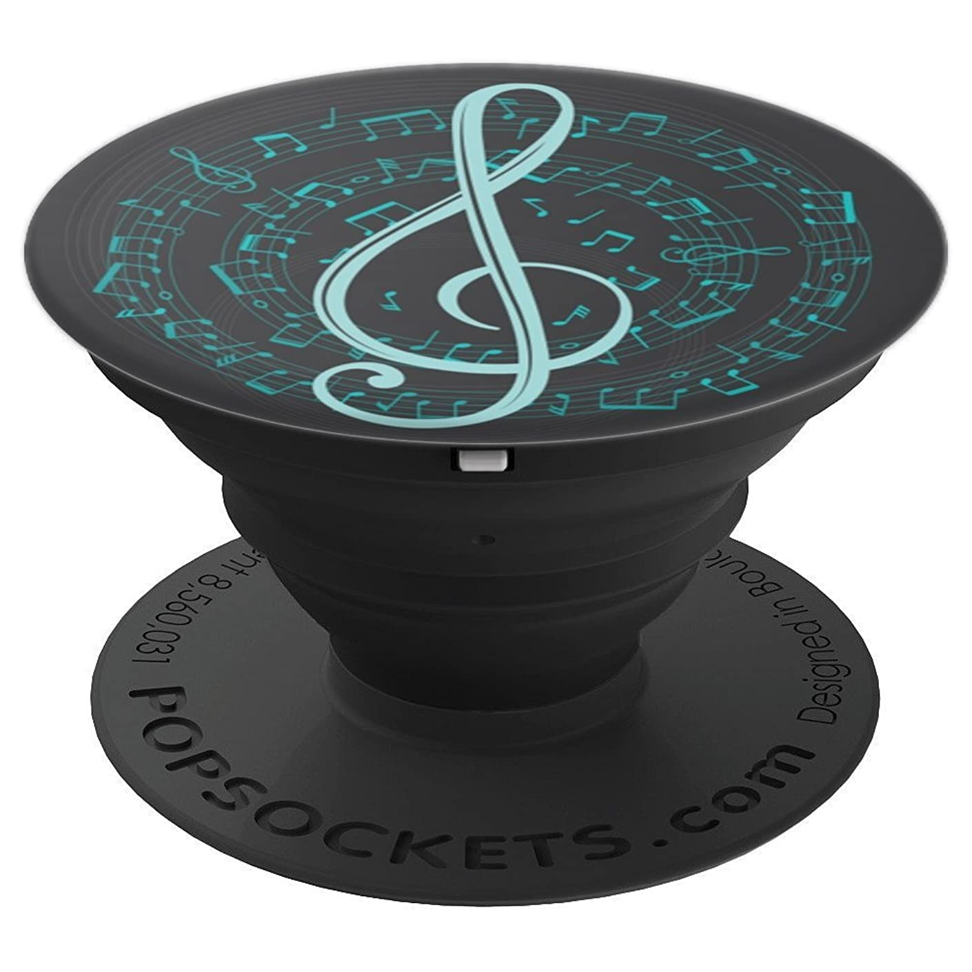 Treble Clef with Spiral Music Notes - PopSockets Grip and Stand for Phones and Tablets